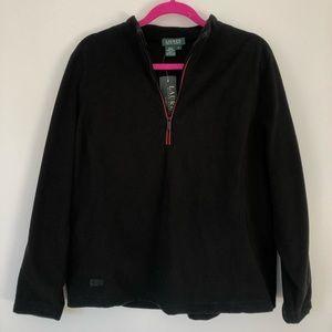 Ralph Lauren Half Zip Black Plus 1X